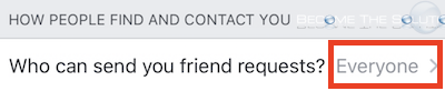 Facebook mobile send friend requests