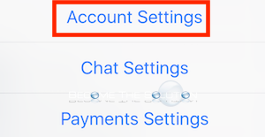 Facebook mobile account settings