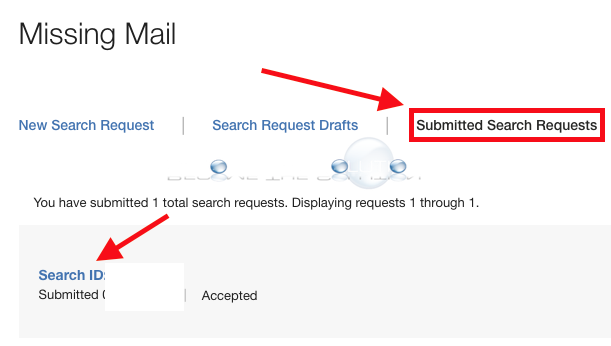 Usps missing mail submitted search requests