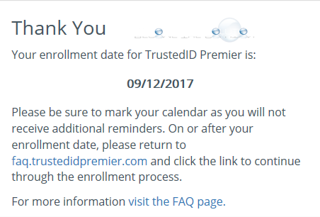 Equifax breach 2017 trusted premier message