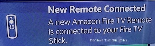 Amazon fire stick new remote connected