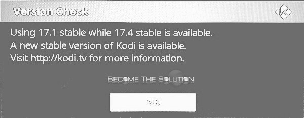 Using 17.1 Stable While 17.4 Stable is Available Kodi Auto Update