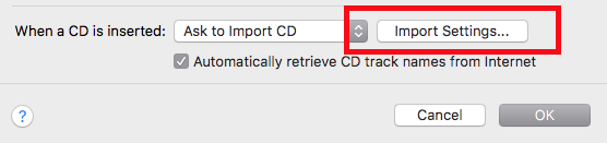 ITunes convert settings