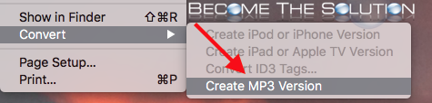 Itunes create mp3 version convert