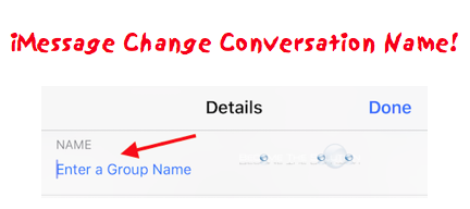 Change iMessage Conversation Name