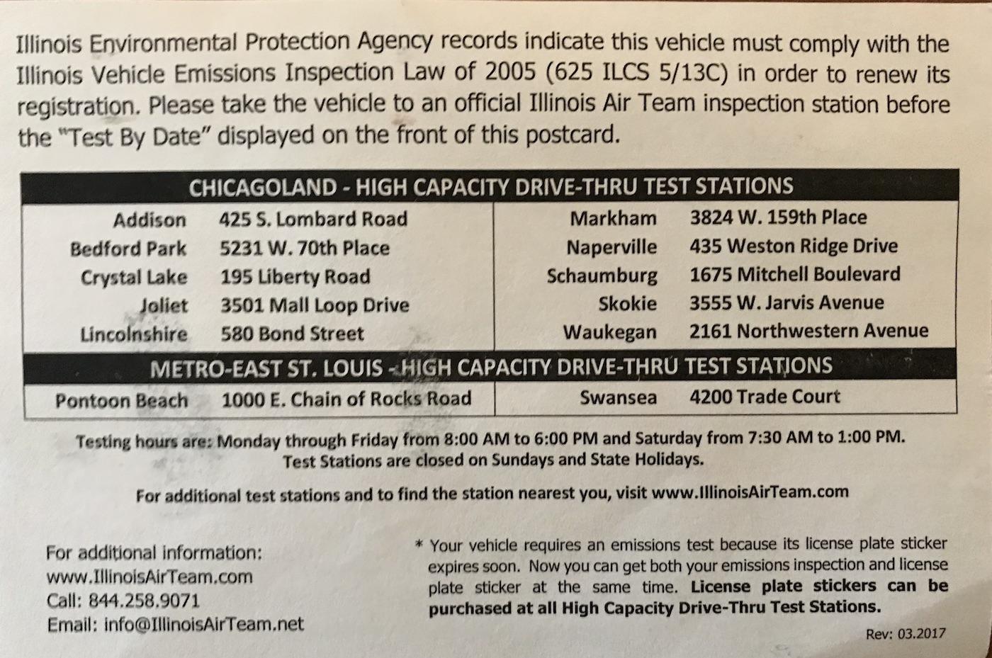 Illinois Emissions Test Near Me >> Illinois Vehicle Emissions Testing Locations Near Me Hours