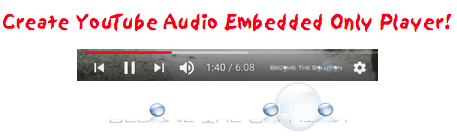YouTube Embed Audio Only Player