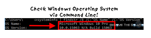 Easy: How to Determine Windows Operating System Version from Command Prompt