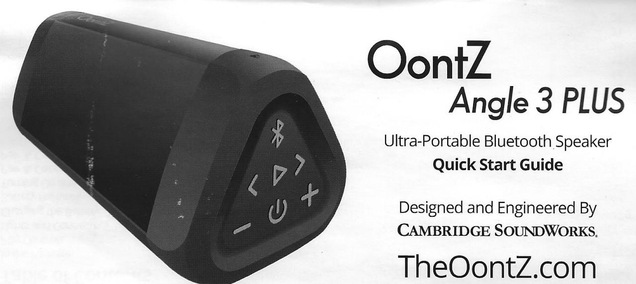 Oontz Angle 3 Plus Manual PDF