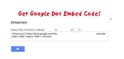 Fast: How to Embed Google Doc (How to Get Embed Code)