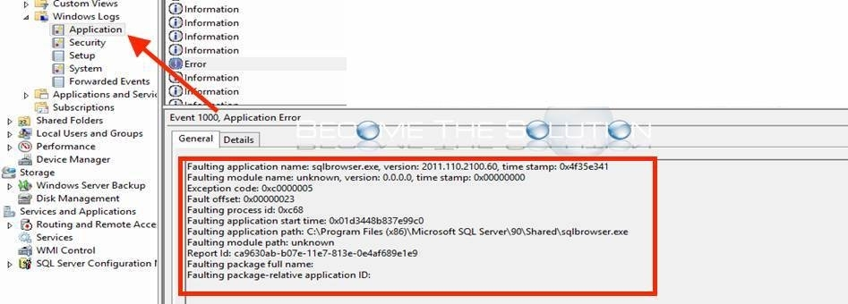 Fix: Faulting Application Name: sqlbrowser.exe