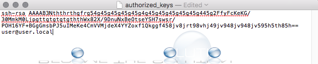 Mac ssh authorized keys file