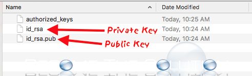 Mac ssh private public keys