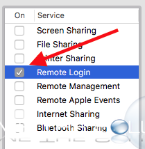 Mac x remote login ssh