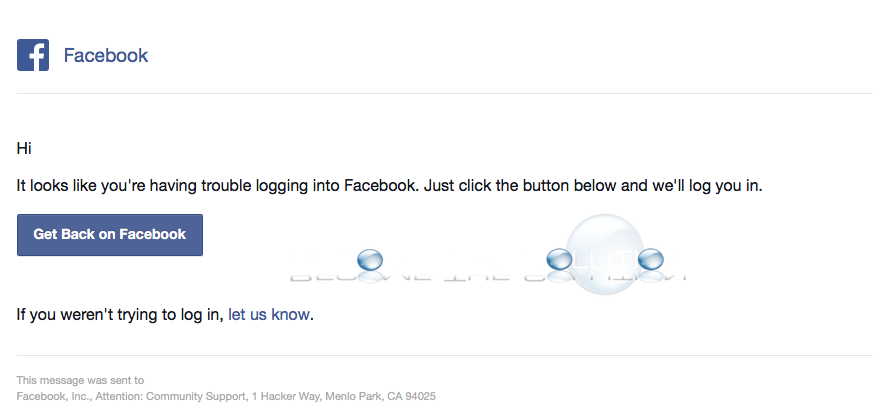 Why: It Looks Like You're Having Trouble Logging Into Facebook – Email