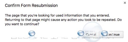 Prevent: Confirm Form Resubmission - Google Chrome