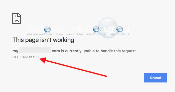 http 500 internal server error mac