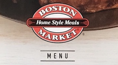 Boston Market Menu