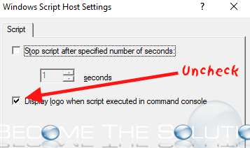 Fix: Microsoft Console Based Script Host Has Stopped Working