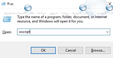 Windows run wscript