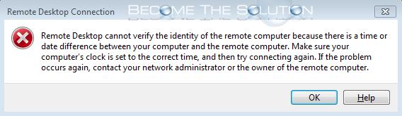 Fix: Remote Desktop Cannot Verify the Identity of the Remote