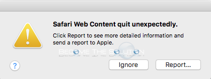 Fix: Safari Web Content Quit Unexpectedly