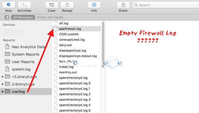 Mac OS X Sierra (10 12 and 10 13) Firewall Logs Empty / Not