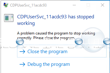 Fix: CDPUserSvc_ Has Stopped Working – Windows
