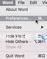 Mac microsoft word preferences