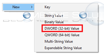 Windows new dword value 32-bit