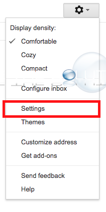Gmail desktop settings