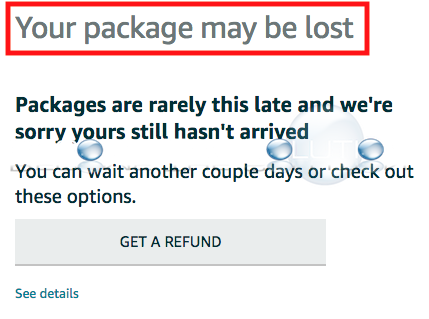 What to Do: Your Package May Be Lost – Amazon