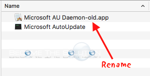 Disable: You Are Opening the Application Microsoft AU Daemon