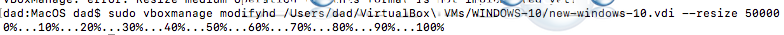 Virtual box increase vdi disk size