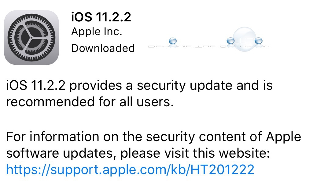 iOS 11.2.2 New Features