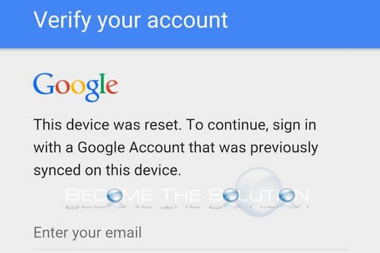 Fix: This Device Was Reset. To Continue, Sign-in with A Google Account That Was Previously Synced – Samsung Device