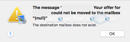 Fix: The Destination Mailbox Does Not Exist – Mac Mail