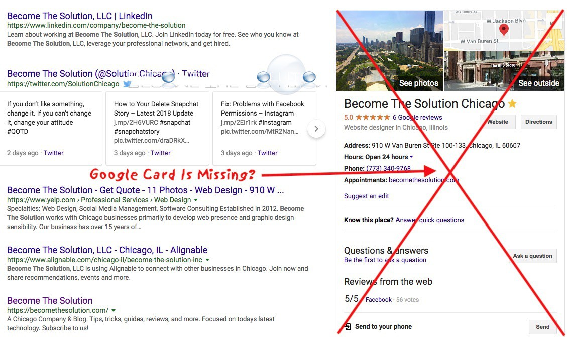 Fix: Google Business Card Not Showing in Google Search Results