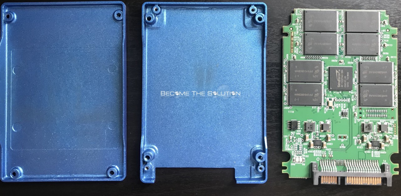 Inside an SSD Hard Drive (Opened Up)