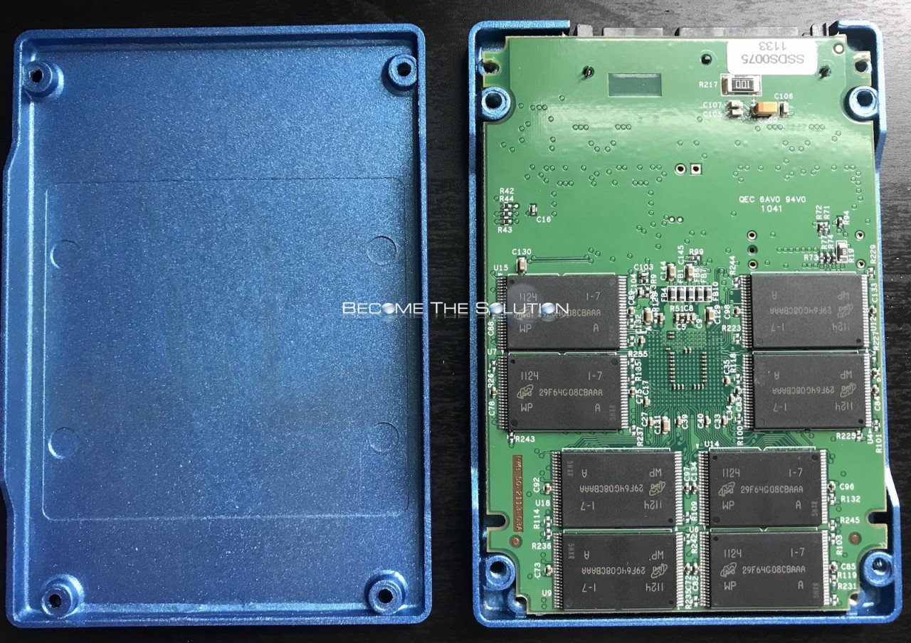 Ssd drive inside open circuit board