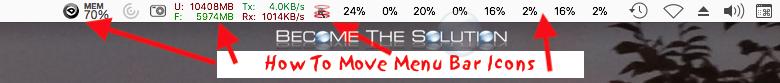 Easy: How to Move (Re-arrange) Mac Menu Bar Icons
