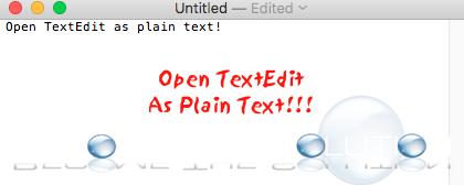 Easy: TextEdit Open as Plain Text – Mac OS