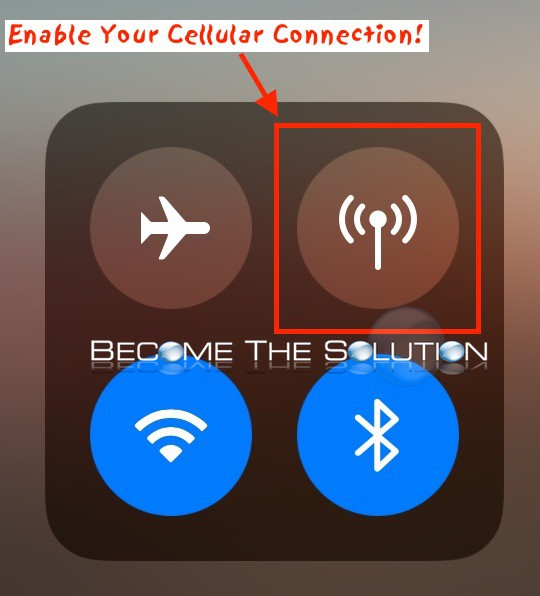 Iphone control center cellular 
