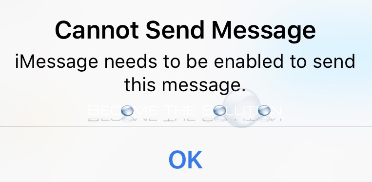Fix: iMessage Needs to be Enabled to Send This Message (But It Is Enabled)