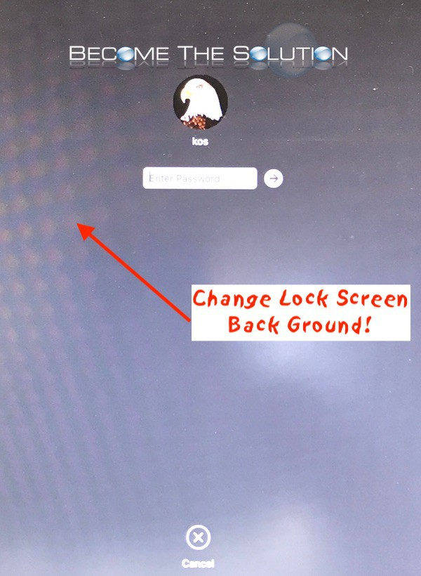 Fix: Mac OS X Get Desktop Background to Show Up on Locked Screen