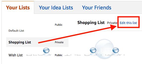 Amazon edit this list