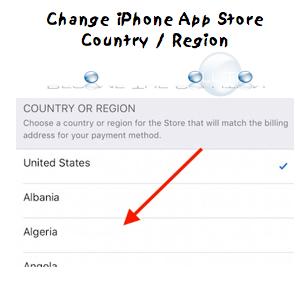 Easy: Change App Store Location – iPhone