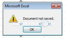 Fix: Excel Document Not Saved Error