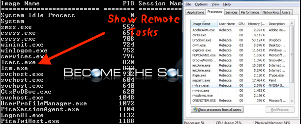 View Processes On Windows Remote Computer (Remote Task Manager)