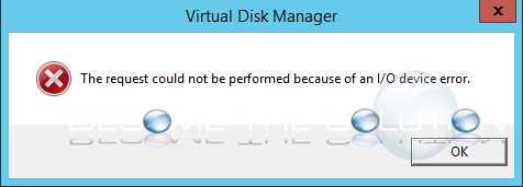 Why: The Request Could Not Be Performed Because of an I/O Device Error – Restoring Backup Disk Windows